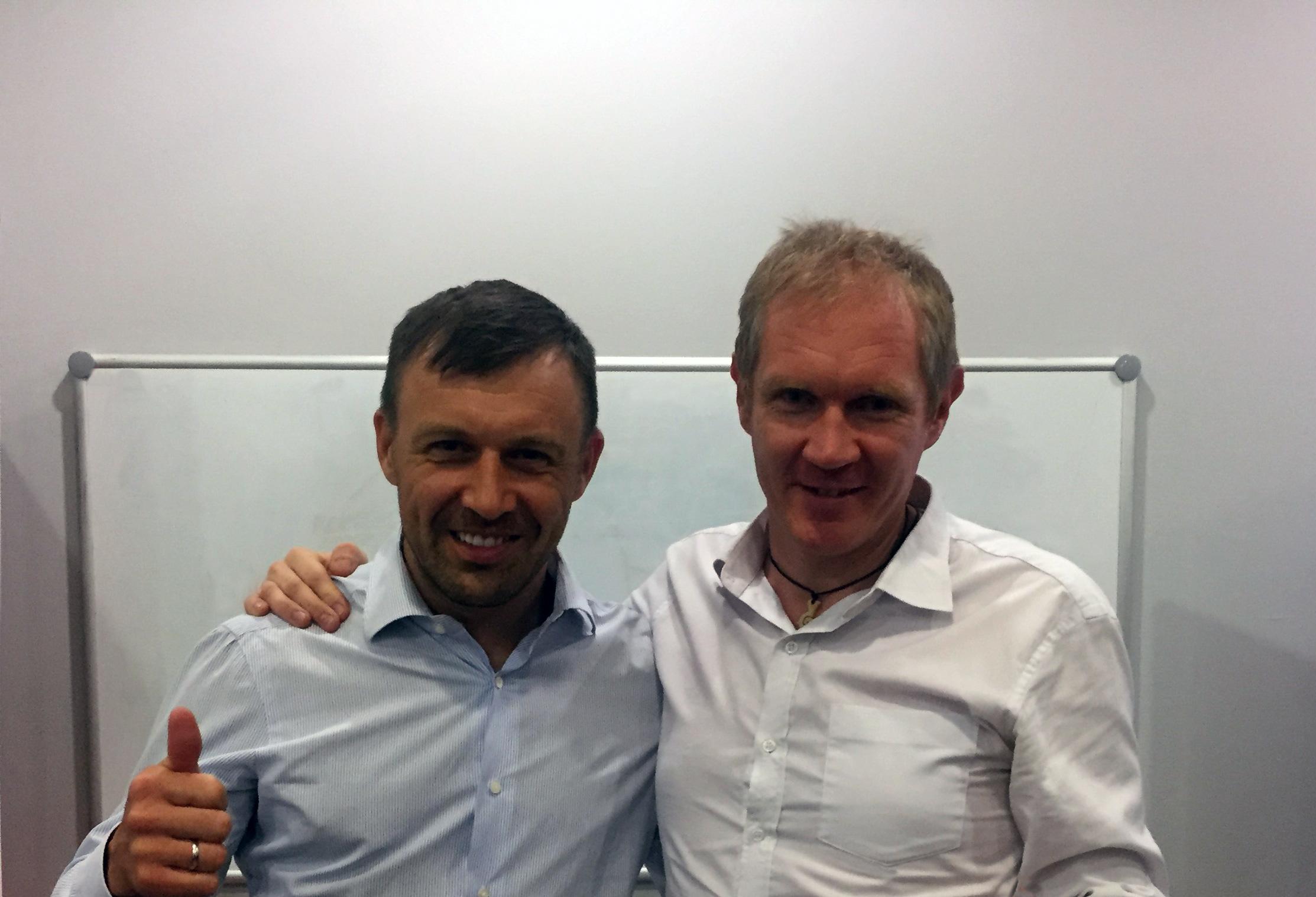 Андрей Онистрат и Леонид Бугаев